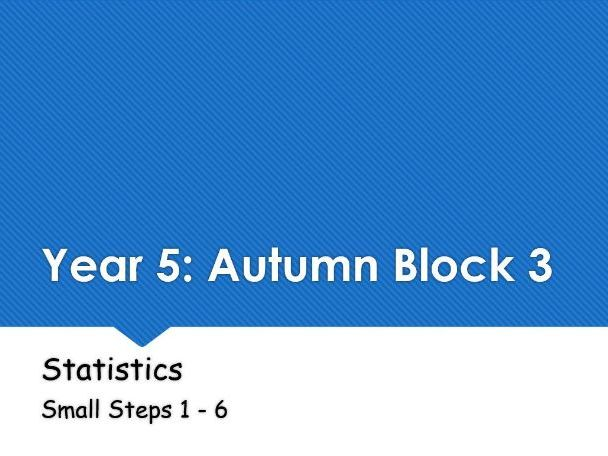 Year 5: Autumn Block 3 Statistics following White Rose Maths