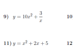 Differentiation worksheet (with solutions)
