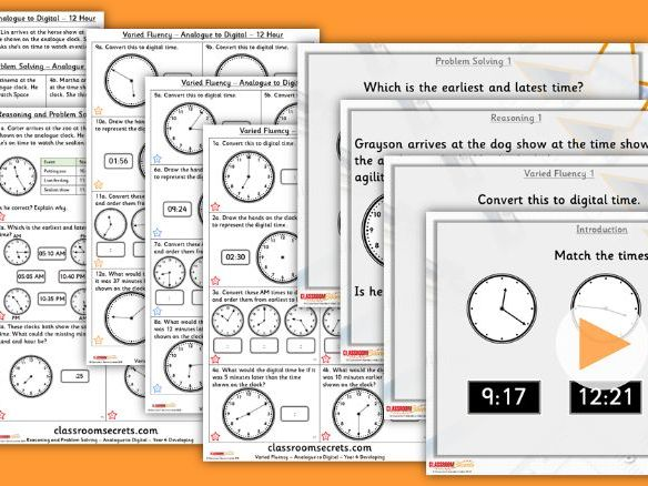 Year 4 Analogue to Digital - 12 Hour Summer Block 3 Lesson Pack