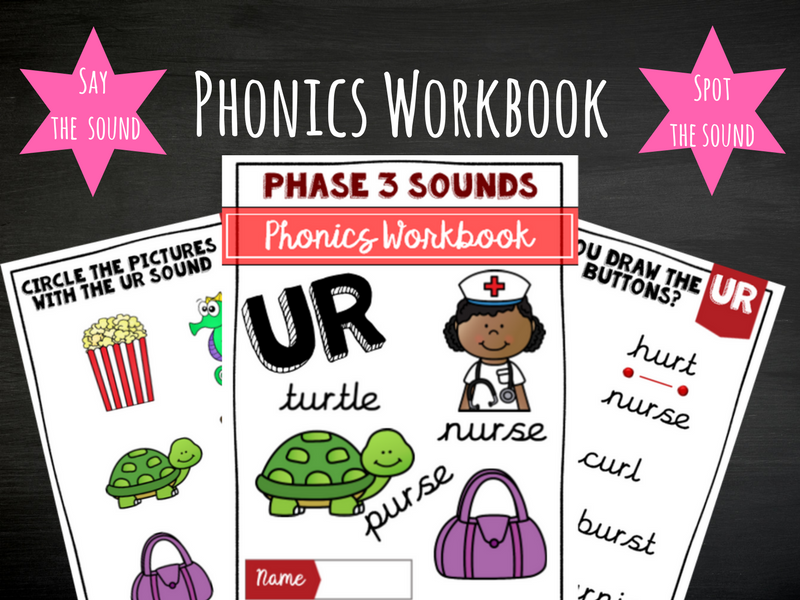 'ur' Phonics workbook