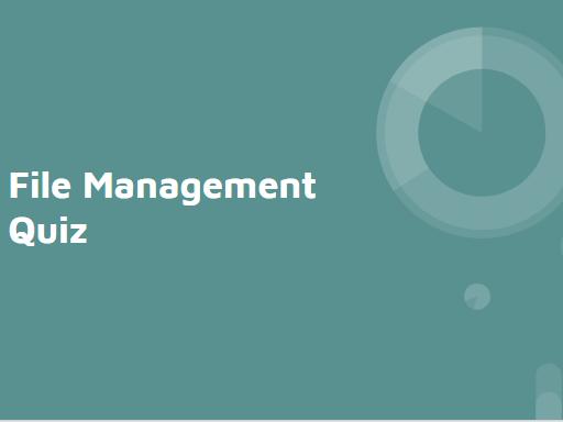 File Management Quiz KS3