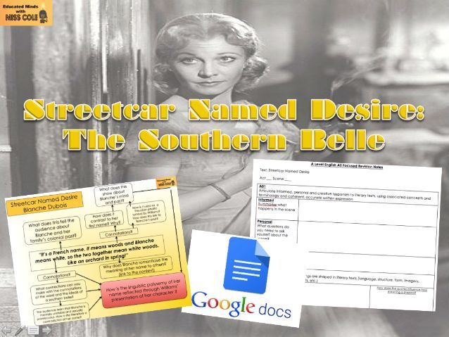 Streetcar Named Desire: The Southern Belle/ Google Docs Revision Collaboration
