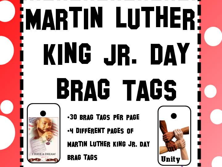 Martin Luther King Jr. Day Holiday Brag Tags