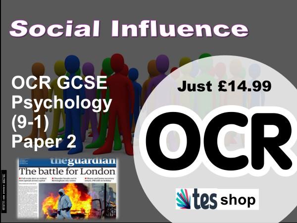 Psychology OCR GCSE (9-1): Social Influence