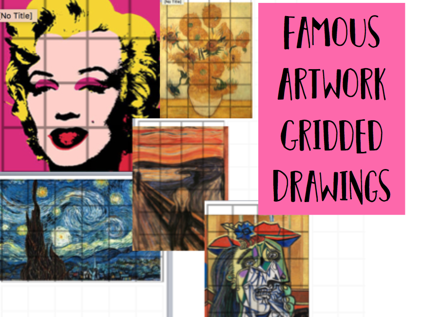 Famous Artwork Gridded Drawing Cover lesson / Homework