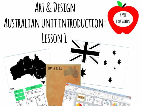 Australian Art Lesson Plan Pack - Lesson 1: An introduction to Australia with creative tasks - Power
