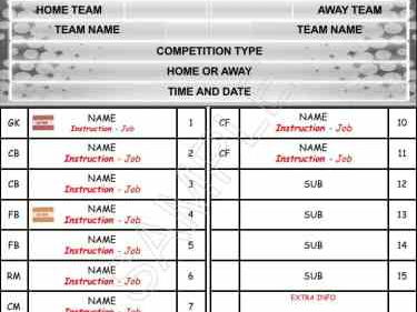 All Sports Team Sheet | PE4Learning