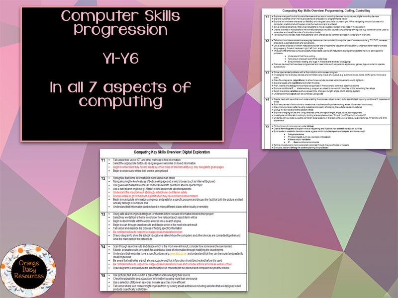 Computing Skills Progression Y1-Y6