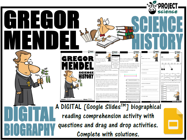 Gregor Mendel Digital Biography Activity - Distance Learning