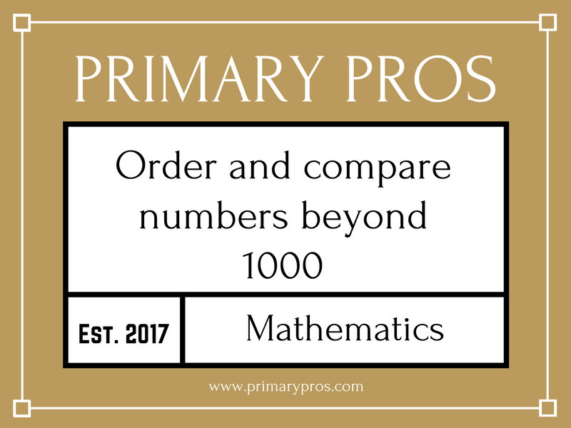 Order and compare numbers beyond 1000