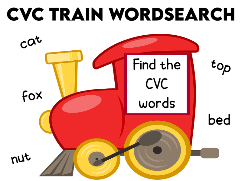 CVC Train Word Search KS1 PPT