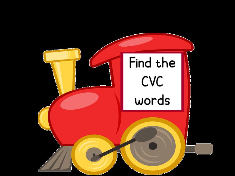 CVC Train Word Search KS1 PPT