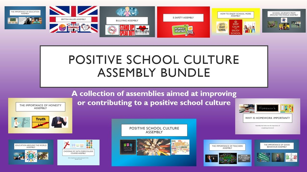 Positive School Culture Assembly Bundle