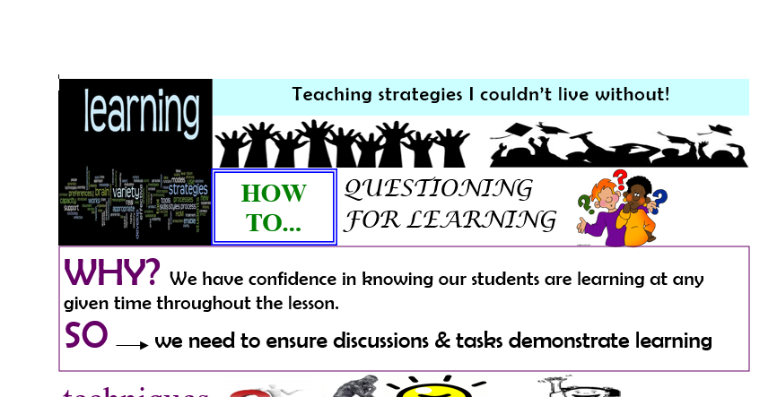 Teaching strategies I couldn't live without - Questioning for Learning