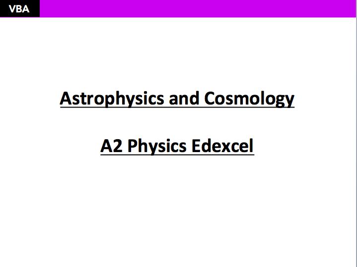 A2 Astrophysics