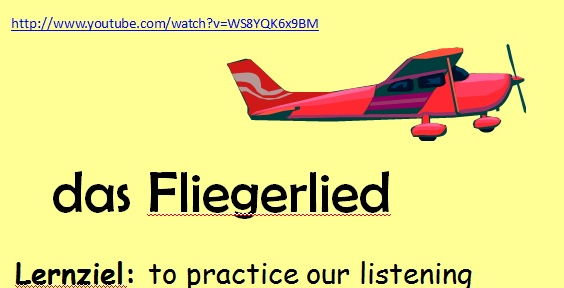 Das Fliegerlied - Authentic German Song about animals and adjectives