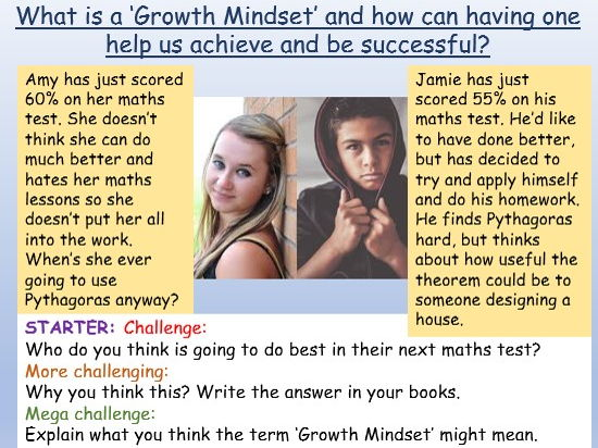 Growth Mindset: Growth Mindset PSHE / Tutor Time