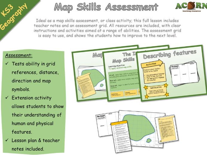 Geography - Map skills - The Island - Assessment