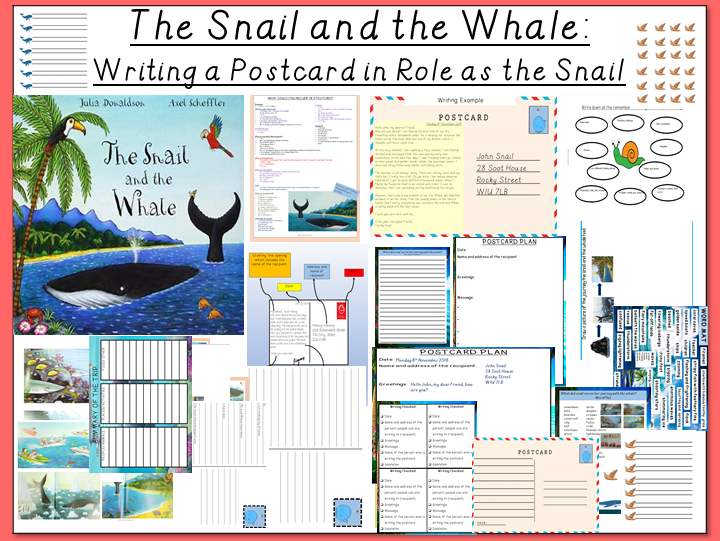The Snail and the Whale- Writing  a Postcard in Role as the Snail