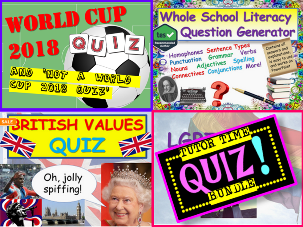 Tutor Time Quiz Bundle