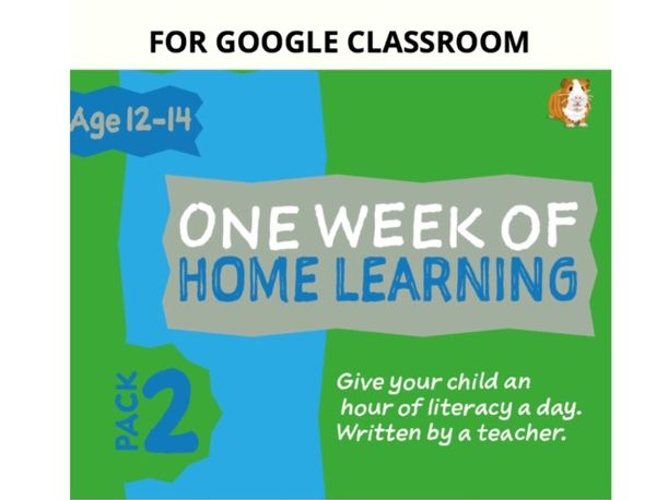 Digital Distance Learning Resource For Google Classroom: Pack 2 (12-14 years)