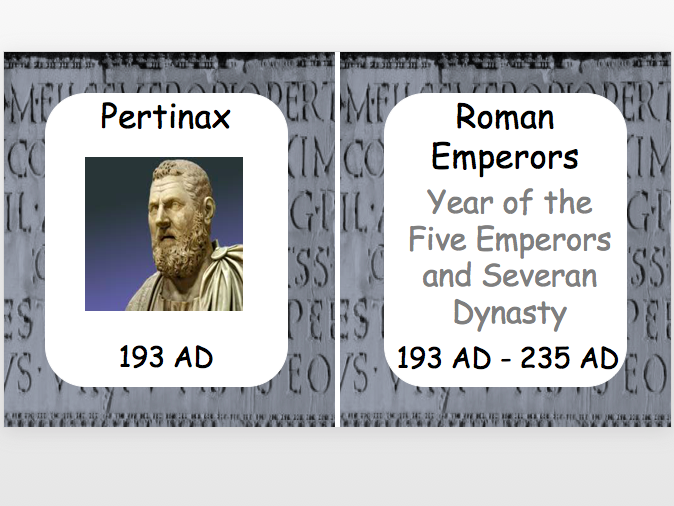 Roman Emperors: Year of the Five Emperors and Severan Dynasty