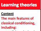 Learning theories (EDEXCEL A LEVEL PSYCHOLOGY) notes