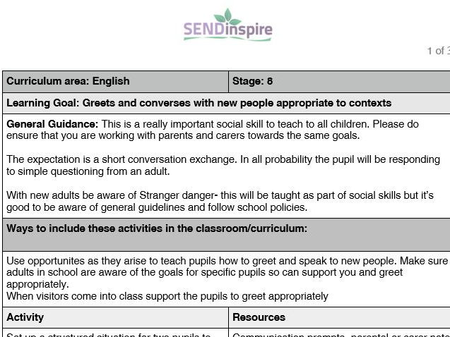 SEND-English- how to greet new people appropriately