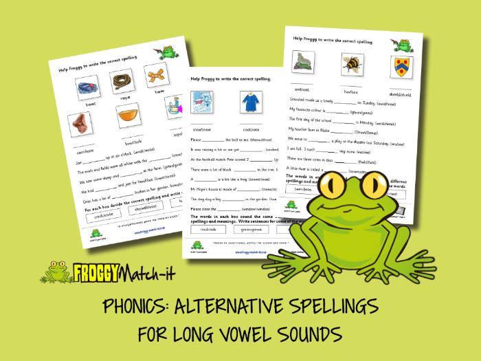 PHONICS: ALTERNATIVE SPELLINGS FOR LONG VOWEL SOUNDS