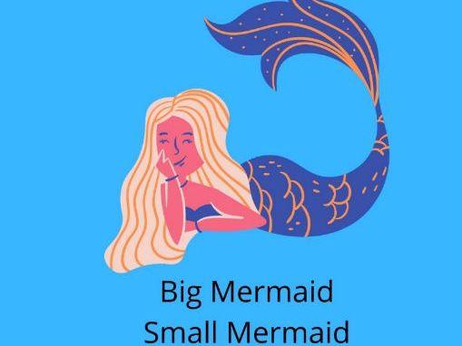Big Mermaid-Small Mermaid? Worksheet