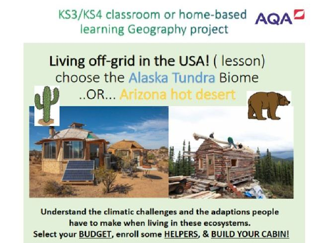 Biomes project KS3/4 living off Grid