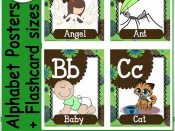 English Alphabet Posters