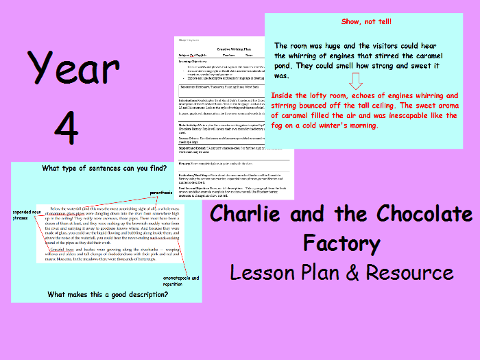 Year 4 Charlie and the Chocolate Factory Lesson