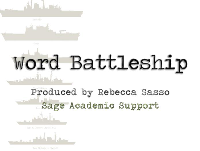 Word Battleship Game