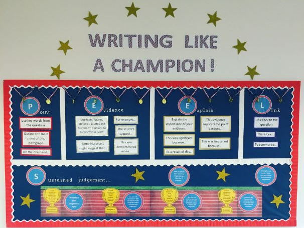 u0026 39 writing like a champion u0026 39  peel paragraph display including
