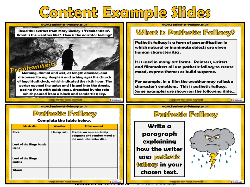 Pathetic Fallacy (PowerPoint and worksheets)