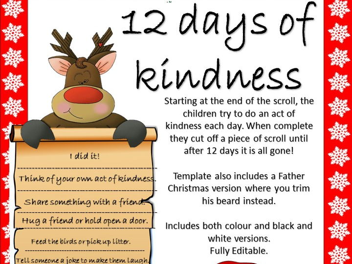 Advent- Acts of Kindness Activity