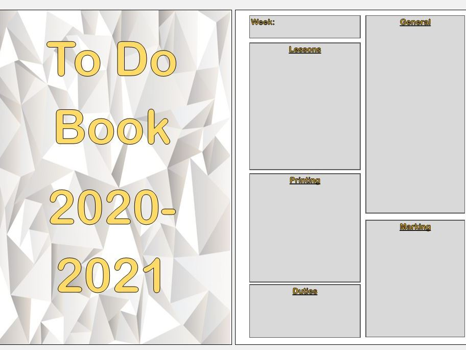 Yearly To Do Book