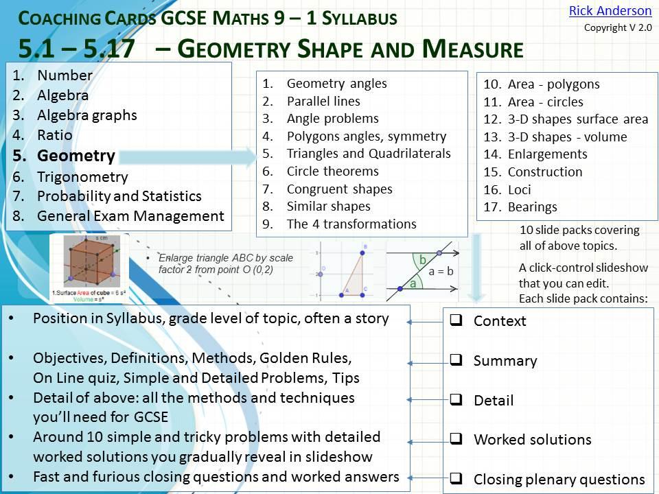 GCSE Maths Coaching Slides - Geometry
