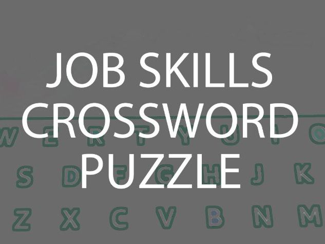 Job Skills Crossword Puzzle