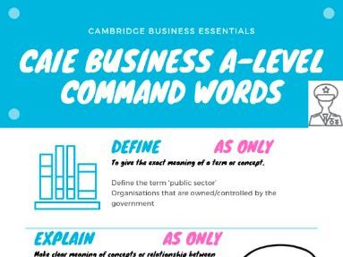 A level Command Words CAIE Business