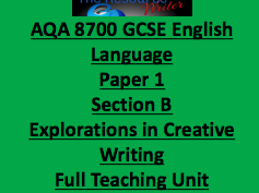 AQA 8700 GCSE Language Paper 1 Section B Writing Full Teaching Unit