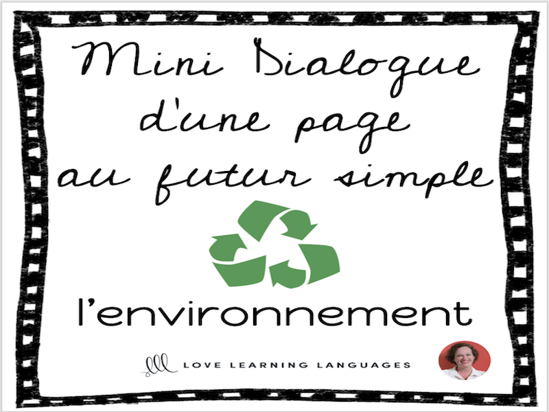 French skit about the environment - Mini-dialogue futur simple - L'environnement