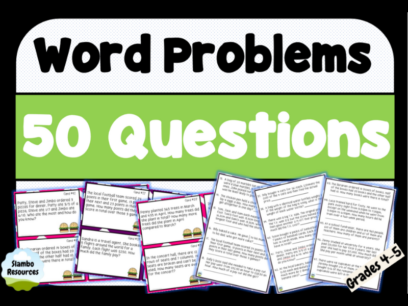 Daily Maths Word Problems | Year 4 & 5