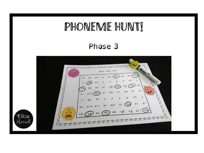 Phonics - Phase 3 - Phoneme Hunt