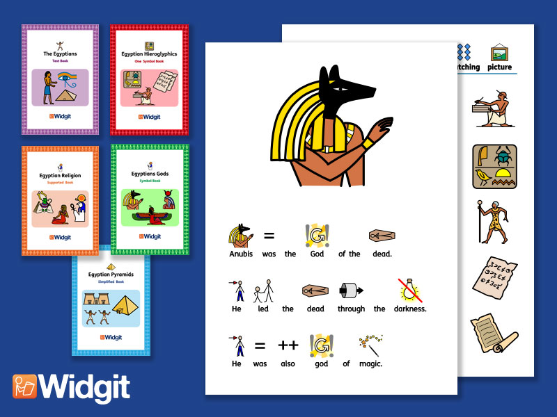 The Egyptians Bundle - History Books and Activities with Widgit Symbols
