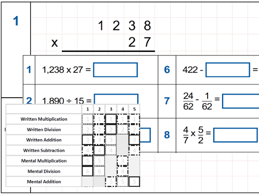 Arithmetic Revision/Practice Year 6 - Daily Ten Set A - 10 sets of 10 questions with QLA assessmentD