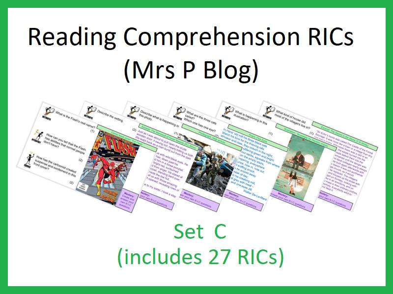 RICS Set C (Reading Comprehension, Mrs P Blog)