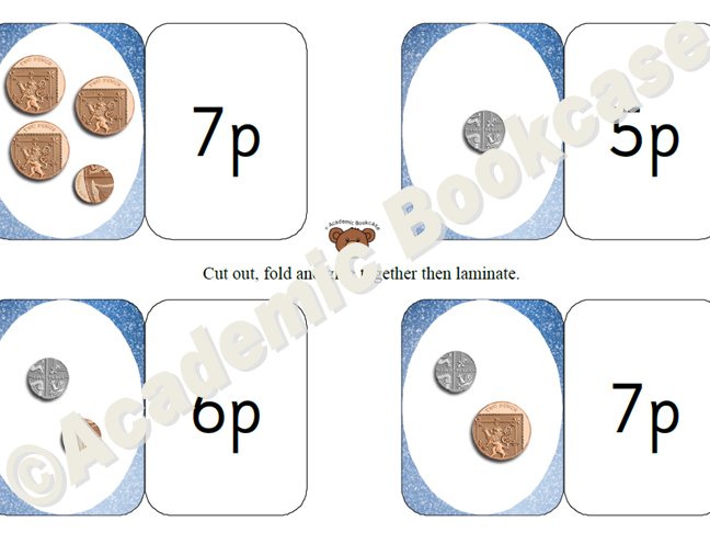 Self check maths flashcards - money - coins