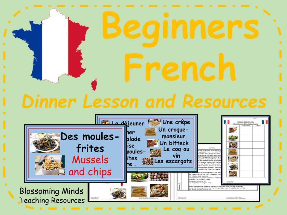 French  lesson and resources - KS2 - Dinner